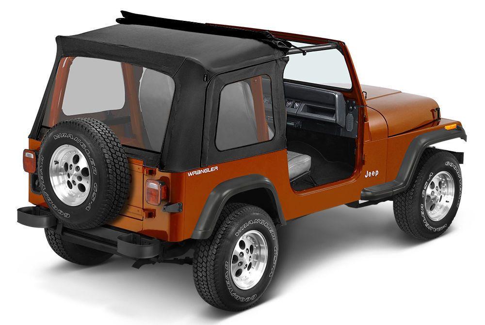 Bestop Sunrider 76 95 Jeep Cj7 Wrangler Yj Clear Windows Black Denim Jeep Cj7 Jeep Cj Cj7