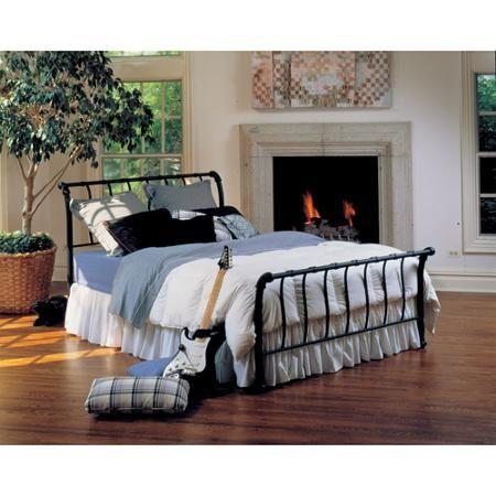 Hilale Janis Queen Metal Sleigh Bed, Metal Sleigh Bed Frame Queen