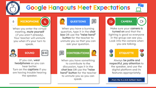 The Edtechspert Chronicles Google Hangouts Meet Student Expectations Classroom Expectations Teacher Expectations Google Hangouts