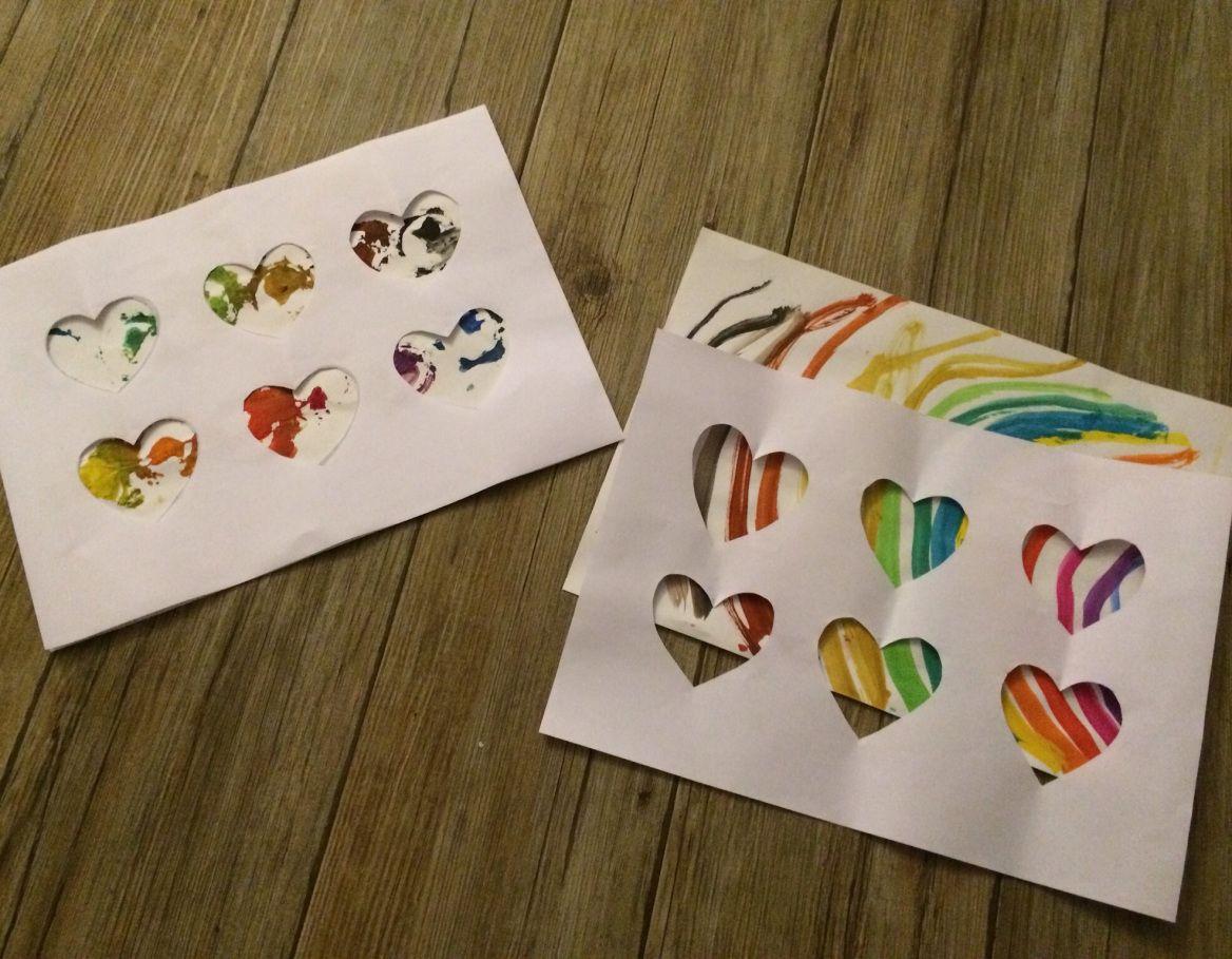 Basteln mit kleinen kindern passepartout f r kinderbilder leinwand bemalen pinterest - Leinwand bemalen mit kindern ...