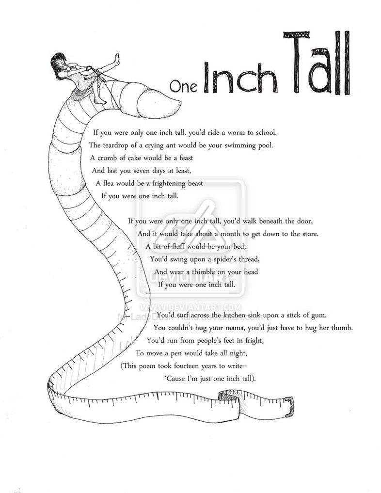 Shel Silverstein One Inch Tall Google Search Listen To The Mustn