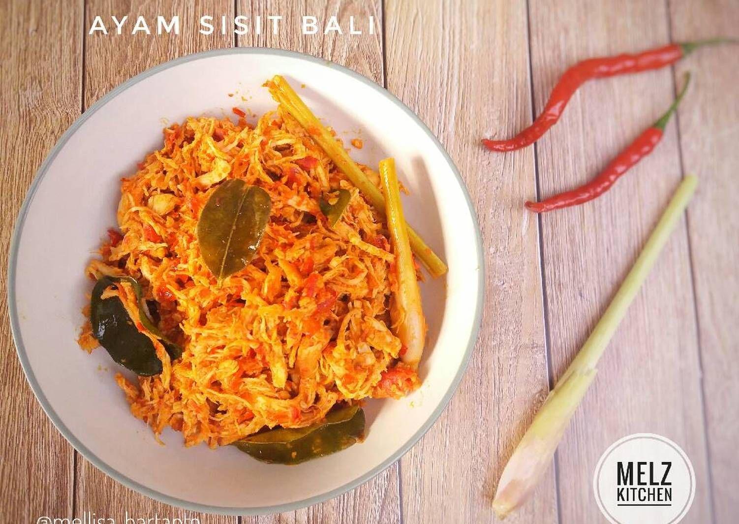 Resep Ayam Sisit Bali Oleh Melz Kitchen Resep Di 2020 Resep Ayam Resep Makanan Memasak