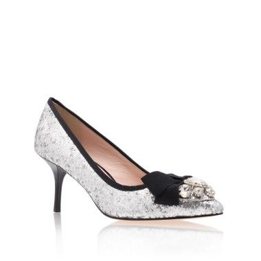 24 Stunning Sparkly Shoes for Brides and Bridesmaids | Kurt Geiger Sparkly Embellished Heels