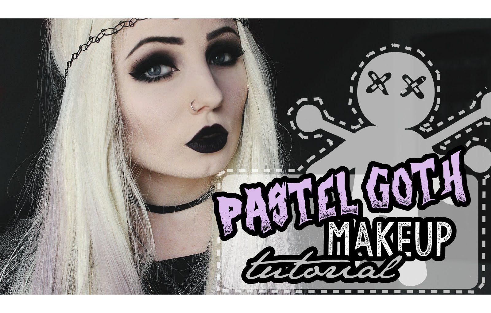 PASTEL GOTH MAKEUP TUTORIAL (Halloween pt.4) Goth makeup