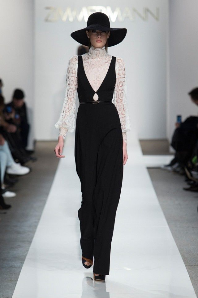 Zimmermann Presents Dapper Femininity for Fall via @WhoWhatWear