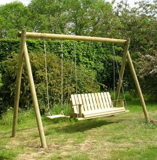 wooden swing frame with louisiana rocking seatjpg 522534 pinterest gardens wooden garden swing and garden swings - Wooden Swing Frame