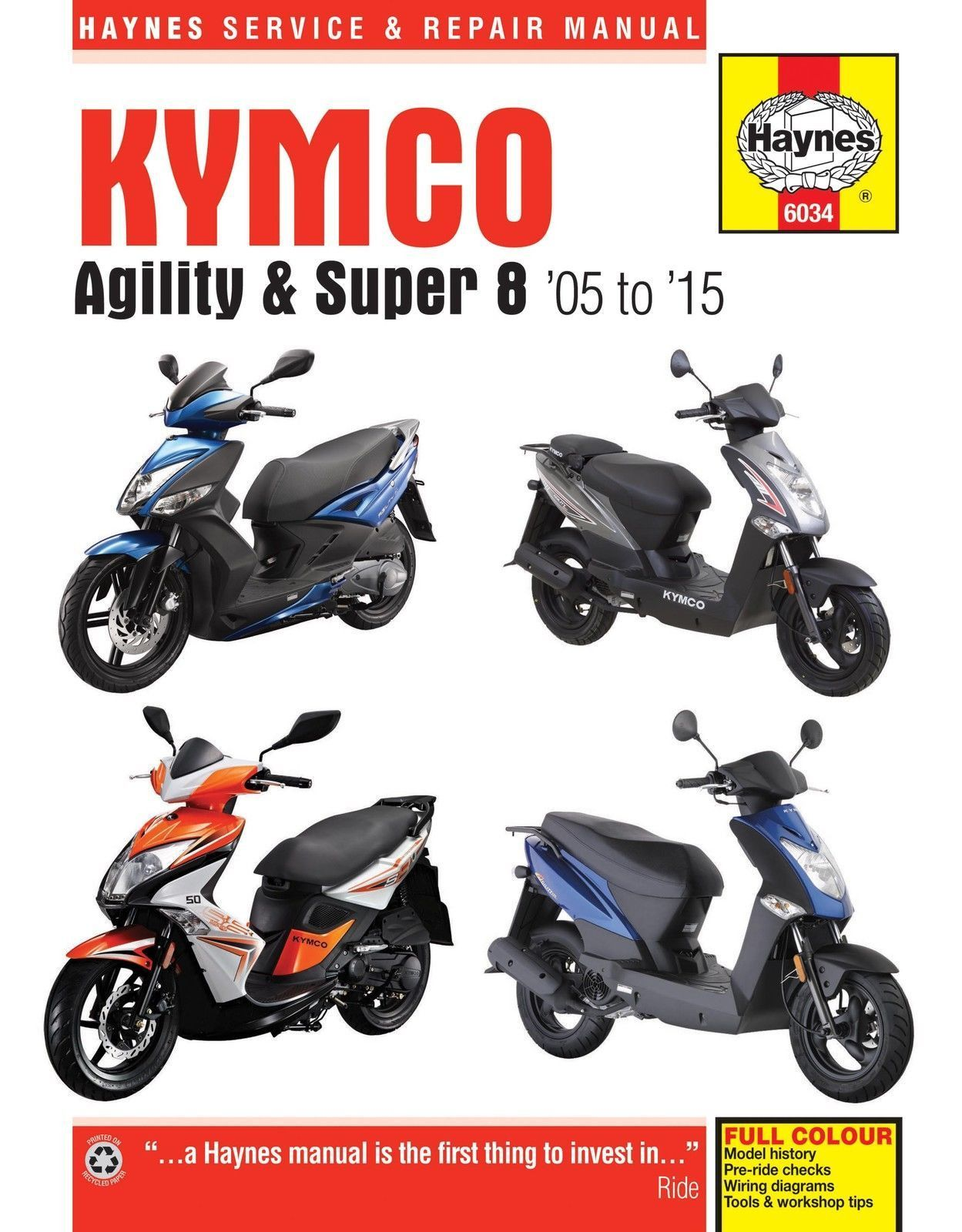 haynes kymco scooter service manual 6034 agility super 8 2005 rh pinterest co uk kymco super 8 mobility scooter user manual Super 8 Kymco 50Cc
