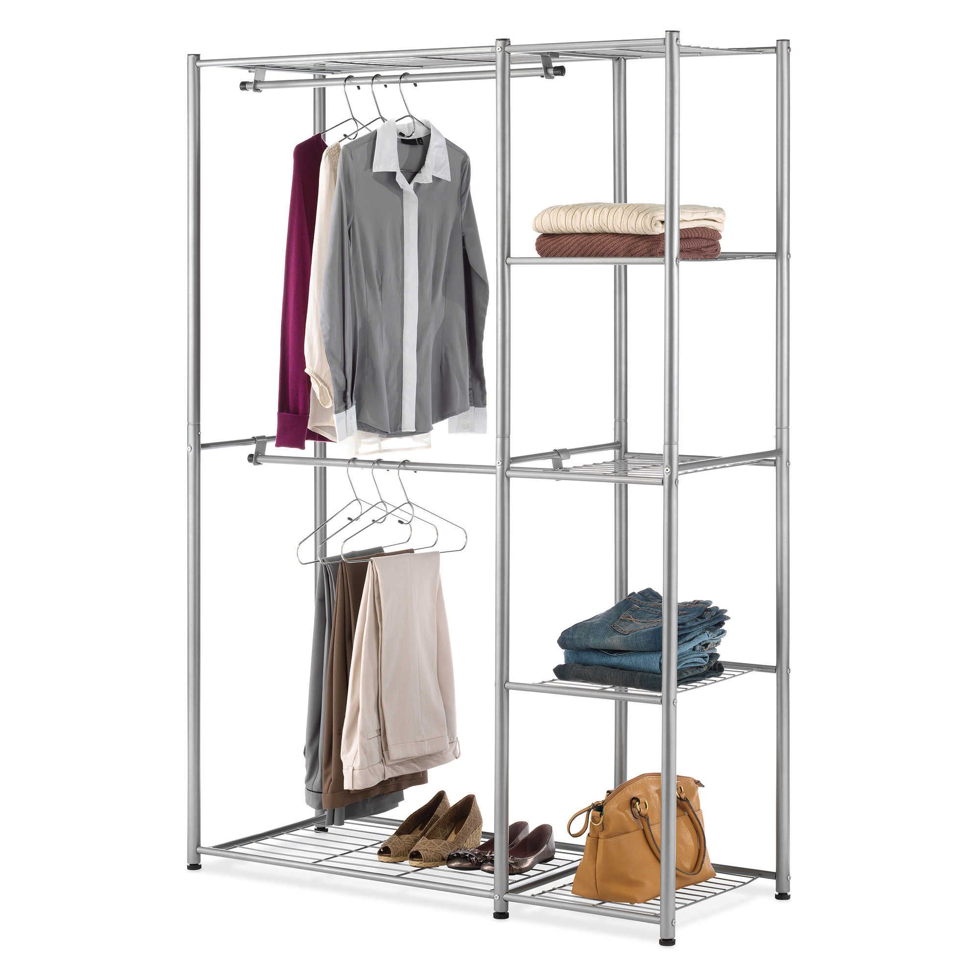 valet wardrobes heavy stand closets for portable hanging garment metal rail wardrobe movable boxes duty storage double rolling clothes professional furniture folding rack single closet