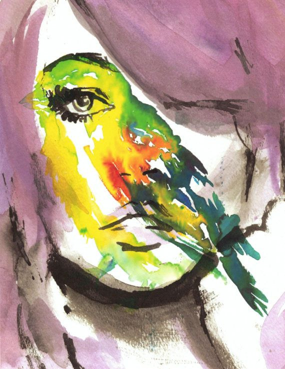 Watercolor Portrait Print Bird S Eye View By Jess Buhman 8 X
