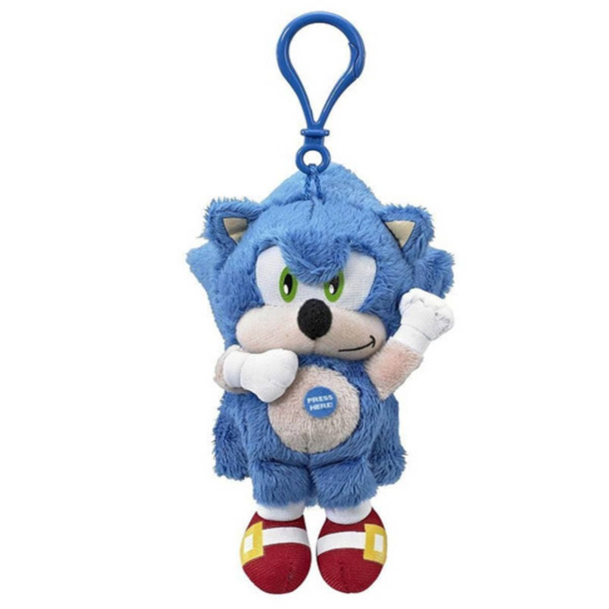 This Is A Sonic The Hedgehog Plush Clip On Figure Sonic The Hedgehog Is The Mascot Of Sega But He Also Represents An Ent Sonic Plush Toys Sonic Sonic Figures
