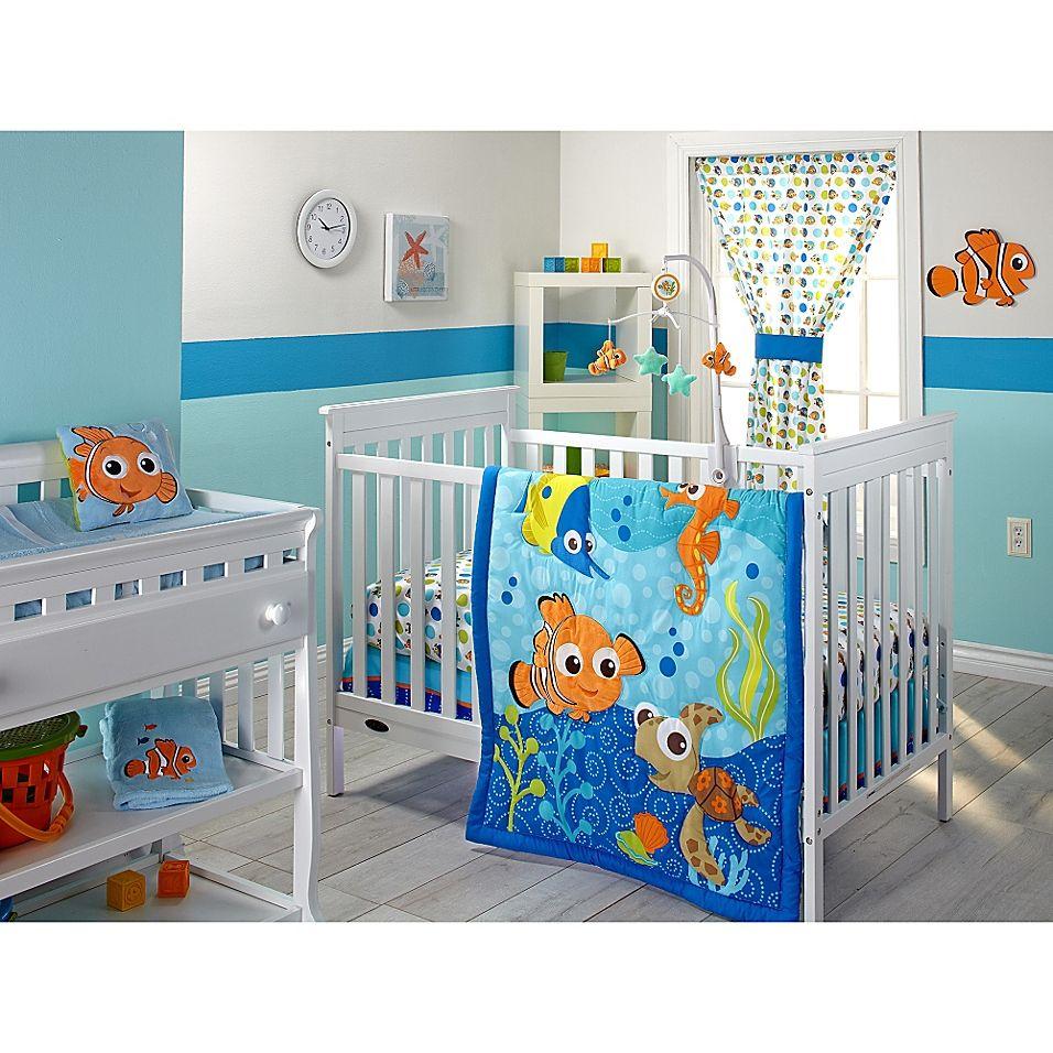 Disney Nemo 3 Piece Crib Bedding Set Turquoise Boys Bedroom