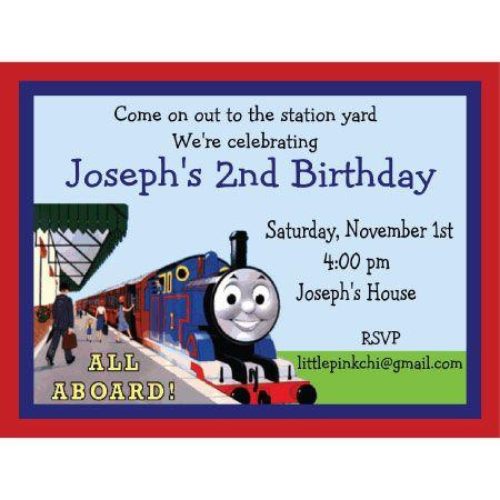 Thomas the Train Birthday Invitation Kids Birthday Ideas