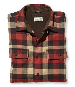 #LLBean: Fleece-Lined Flannel Shirt, Traditional Fit - Medium Tall