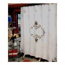 Battenberg Lace Shower Curtain Shabbychicbathrooms