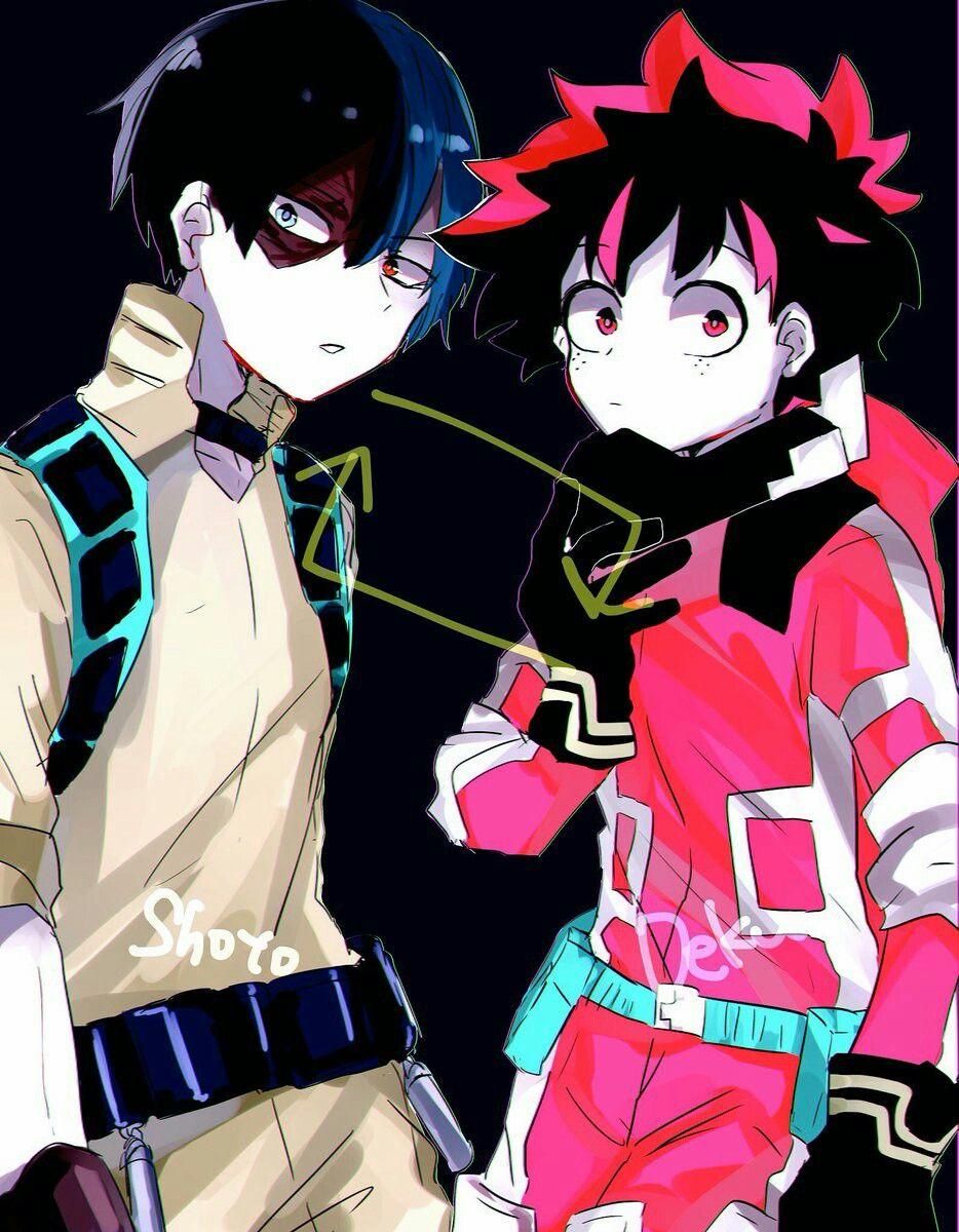 Villain Todoroki Shouto Midoriya Izuku Boku No Hero Academia Au Inverted Hero My Hero Boku No Hero Academia