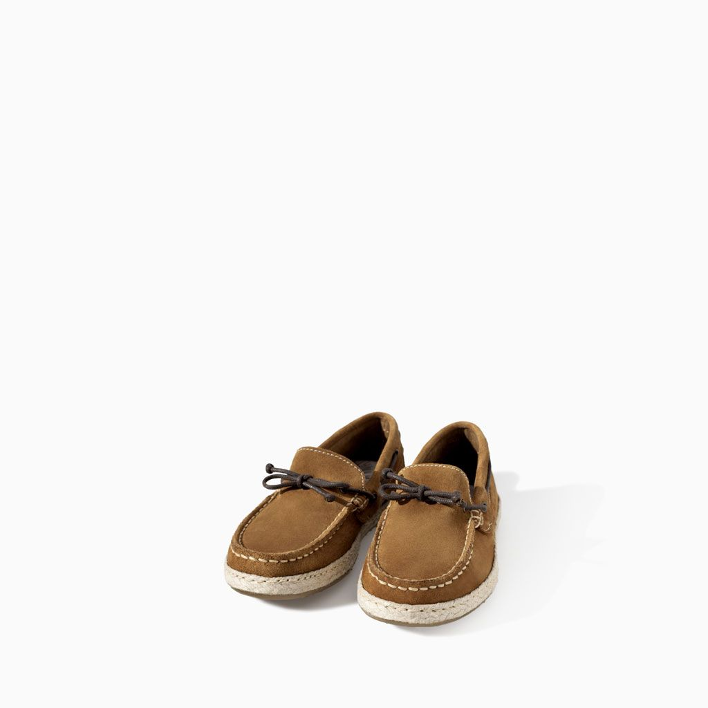 ZARA - KIDS - LEATHER MOCASSIN WITH ESPADRILLE SOLE