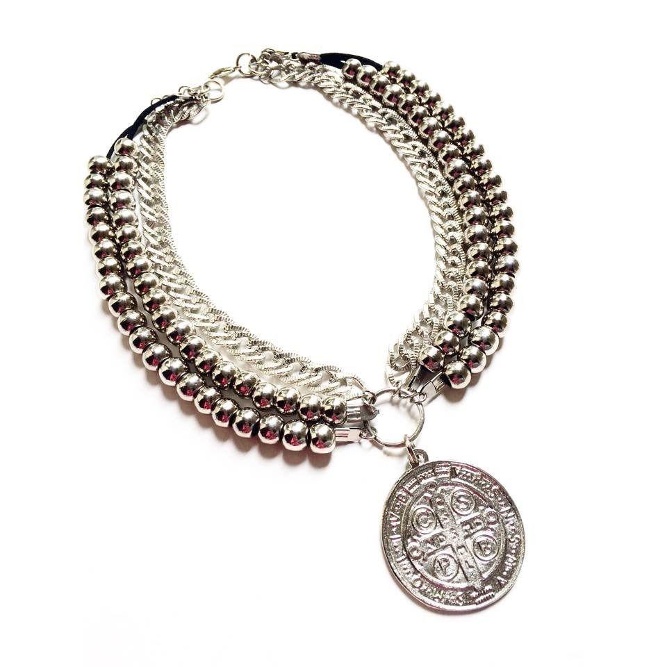 4081929794a5 Collar Medallon San Benito. Ultima Moda!! -   160