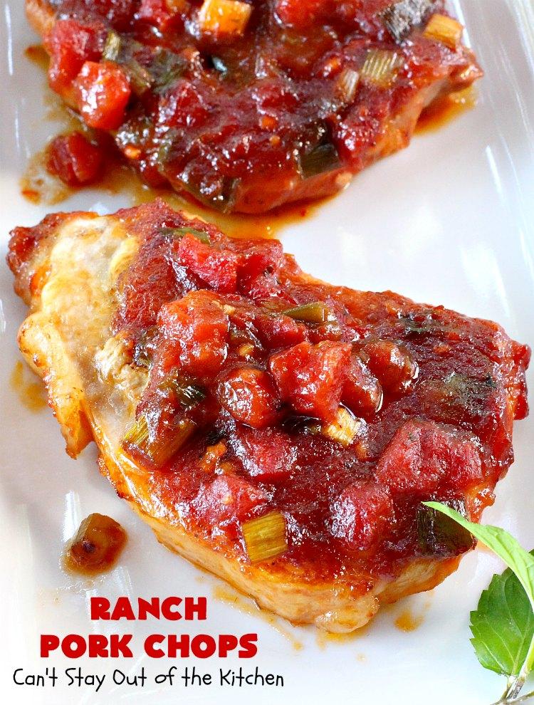 Ranch Pork Chops Recipe Ranch pork chops, Pork chops, Pork