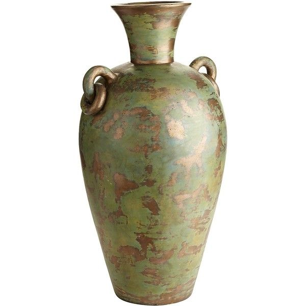 Pier 1 Imports Turquoise Patina Floor Vase 96 Liked On