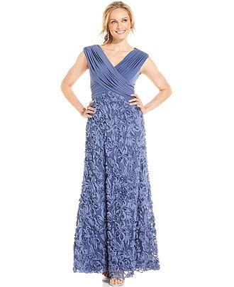 Patra Cap-Sleeve Soutache Gown - Dresses - Women - Macy's
