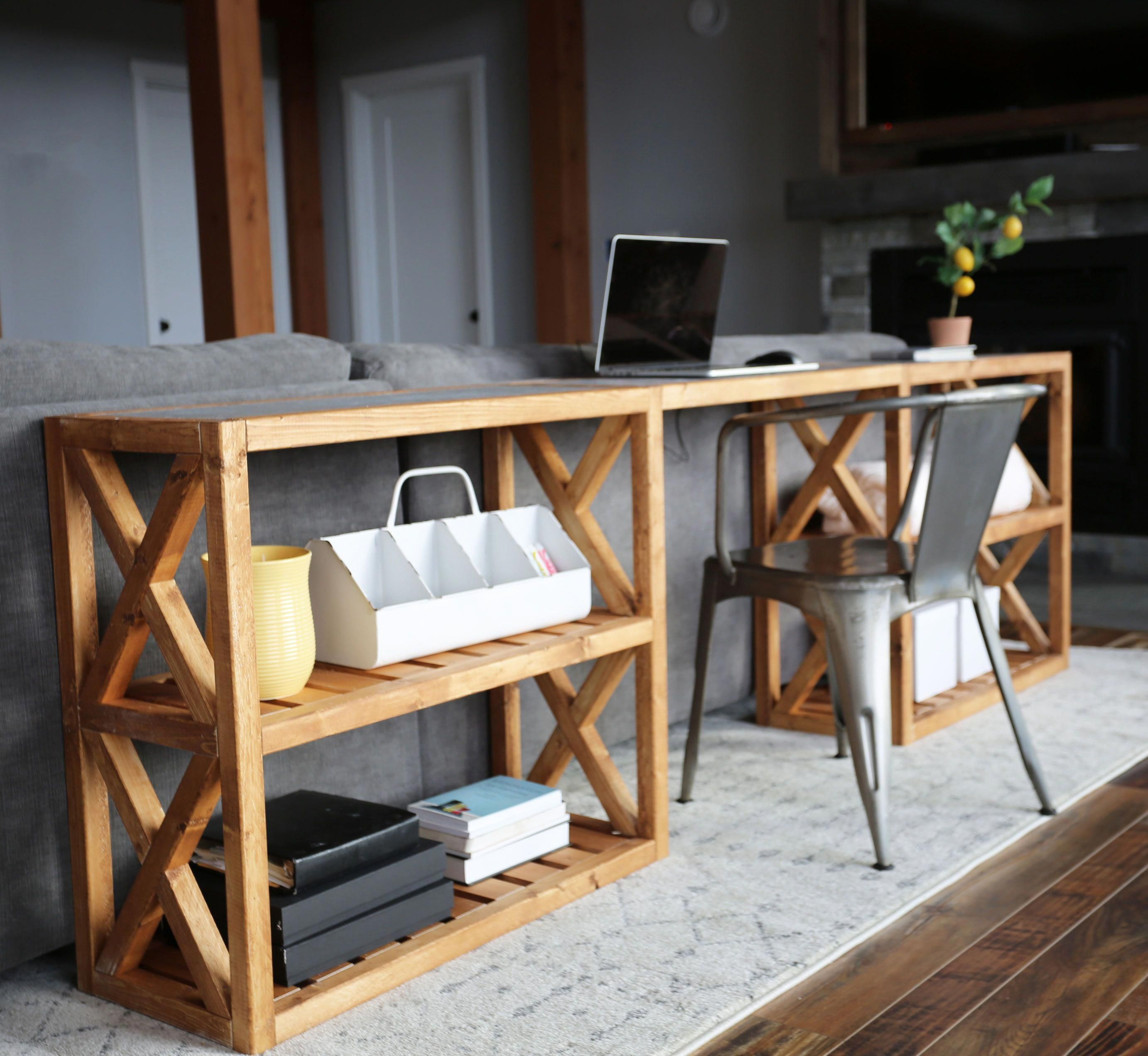 This Beautiful Diy Farmhouse Console Table Was Built For Only 20 Ana White Is Giving Us All Of The Build Farmhouse Console Table Diy Console Table Home Decor