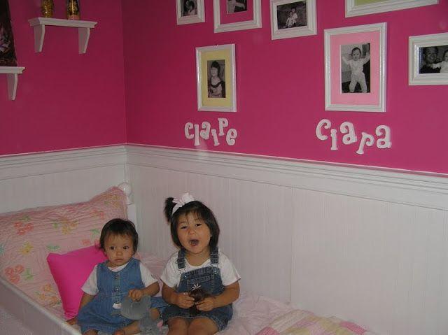 pink walls white beadboard