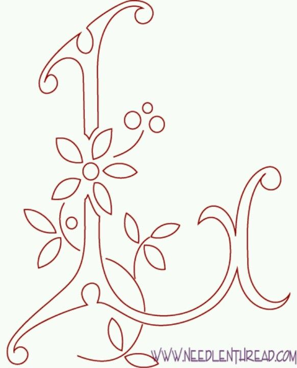Monogram Letters For The Girls Pinterest Embroidery