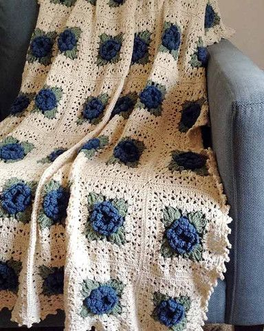 Country rose afghan crochet pattern country rose afghan crochet picture of country rose afghan crochet pattern dt1010fo