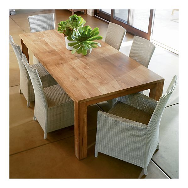 Crate And Barrel Pacifica Dining Table.