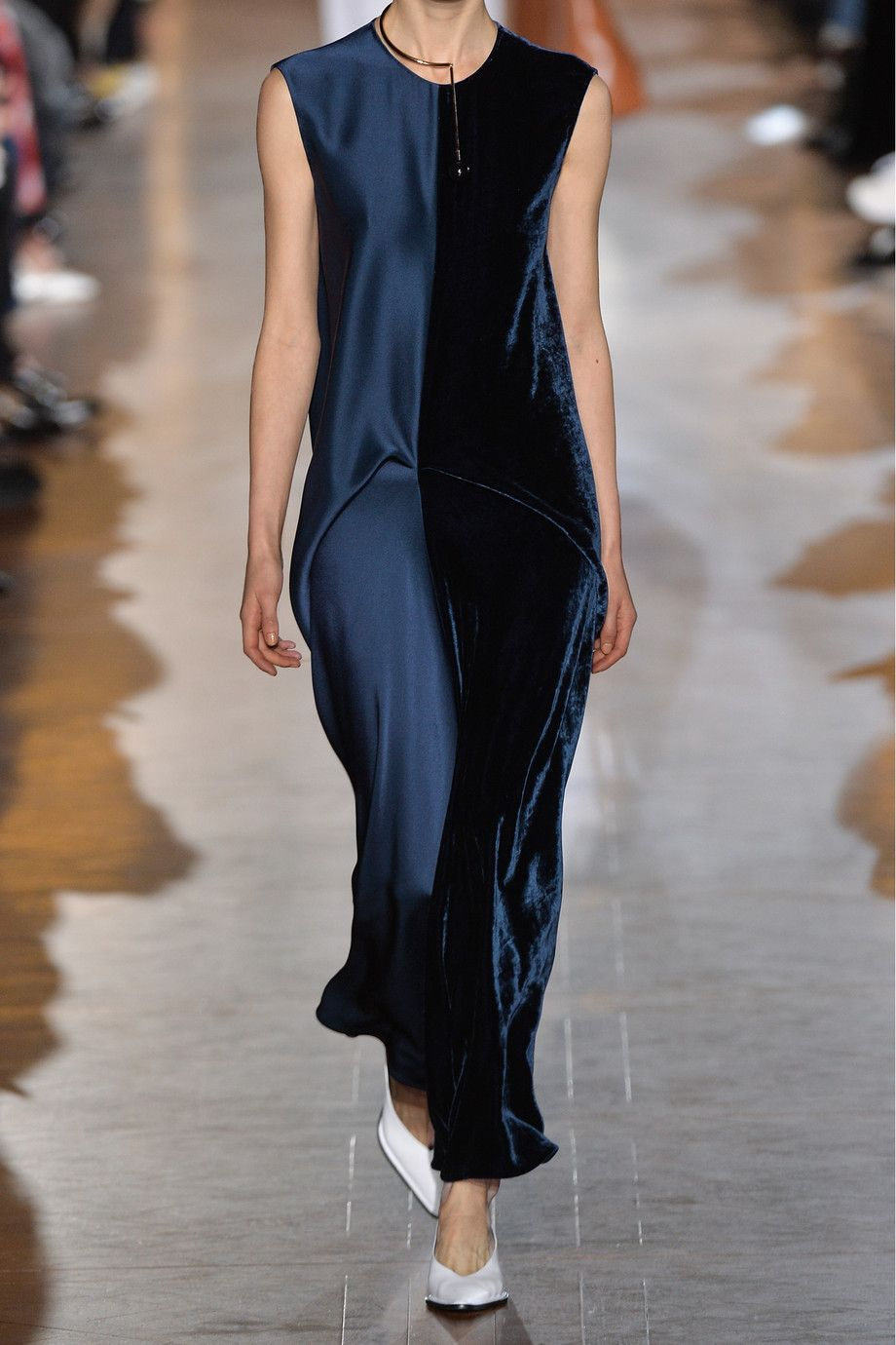 Stella mccartney graziella satin and velvet maxi dress neta