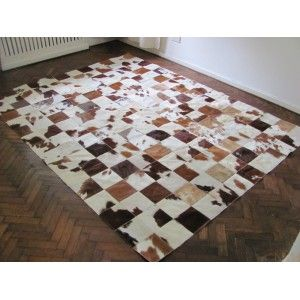 T 8175 Patchwork Teppich Aus Naturliches Kuhfell Kuhfell