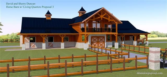 Nice barn home ideas pinterest breezeway barn and horse for Horse barn with apartment plans