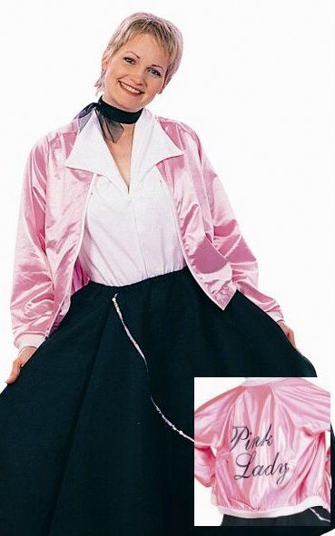 7714aaa8643 Adult 50 s Pink Lady Jacket - Candy Apple Costumes - Most Popular ...