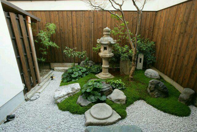 Small Japanese Garden, Japanese Gardens, Japanese Style, Gravel Garden,  Garden Projects, Garden Ideas, Geishas, Garten, Japan Style