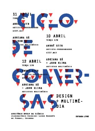 Ciclo de Conversas by Inês Carvalho, via Behance