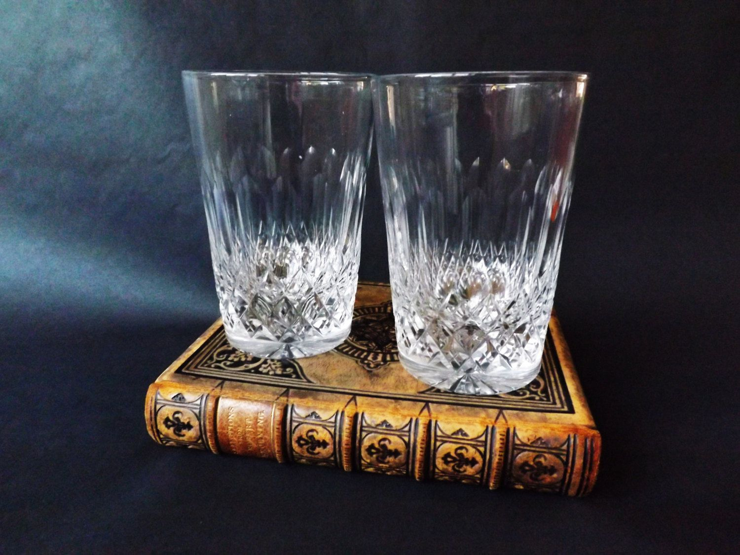 Antique Whisky Glasses In Cut Crystal, 2 English Whiskey Tumblers, Scotch  Glass, Barware, Man Cave Gift, Home Bar Glassware