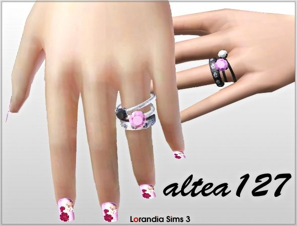 Pandora rings for your sims 3 females. 3 recolorable areas, custom CAS and launcher thumbnails, custom mesh by Altea127