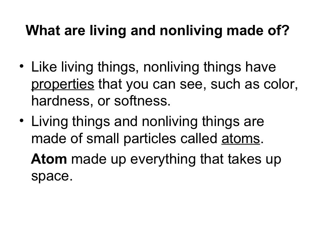Living And Nonliving Things By Marie Prince Via Slideshare