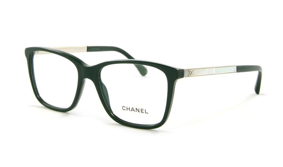 Neue Brillen-Kollektion, Chanel CH 3331-H C1459 52 Grün | Chanel ...