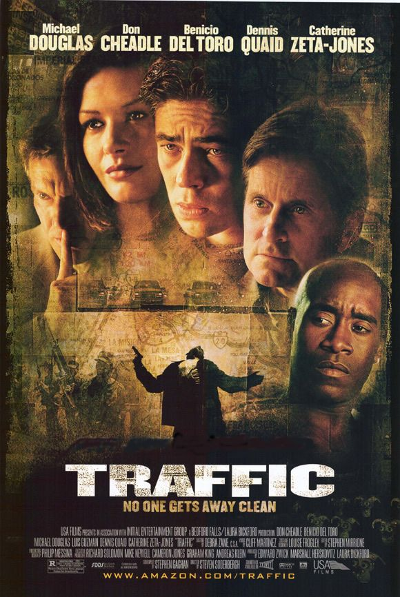 Traffic 2000 Director Steven Soderbergh Stars Michael Douglas Benicio Del Toro Catherine Z Good Movies On Netflix Full Movies Full Movies Online Free