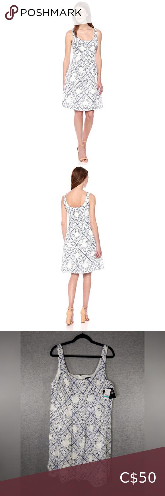 Nine West Lace Pleat Dress