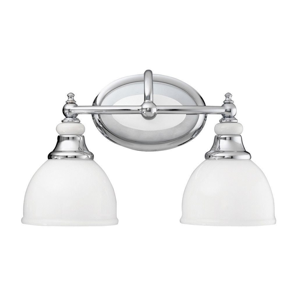 Kichler Lighting Pocelona Collection 2 Light Chrome Bath
