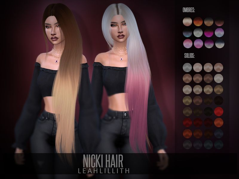 Nicki Hair Found In Tsr Category Sims 4 Female Hairstyles Sims