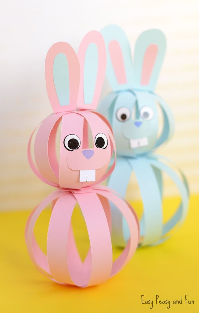 Easy Paper Bunny Craft - Easter Idea for Kids #craftsforkids
