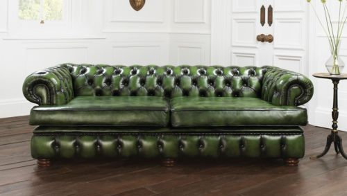 Restoration Hardware Harewood House Chesterfield Leather Sofa 91
