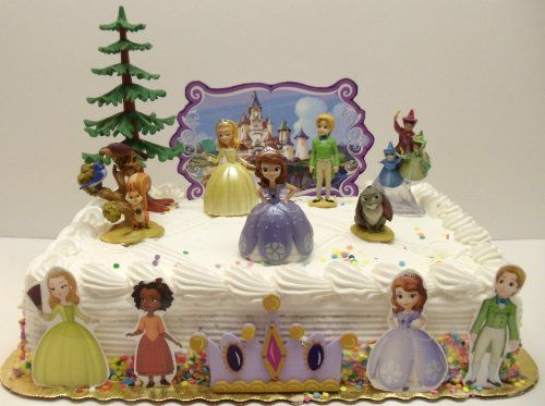 Cool Sofia The First 13 Piece Birthday Cake Topper Set Featuring Sofia Personalised Birthday Cards Cominlily Jamesorg