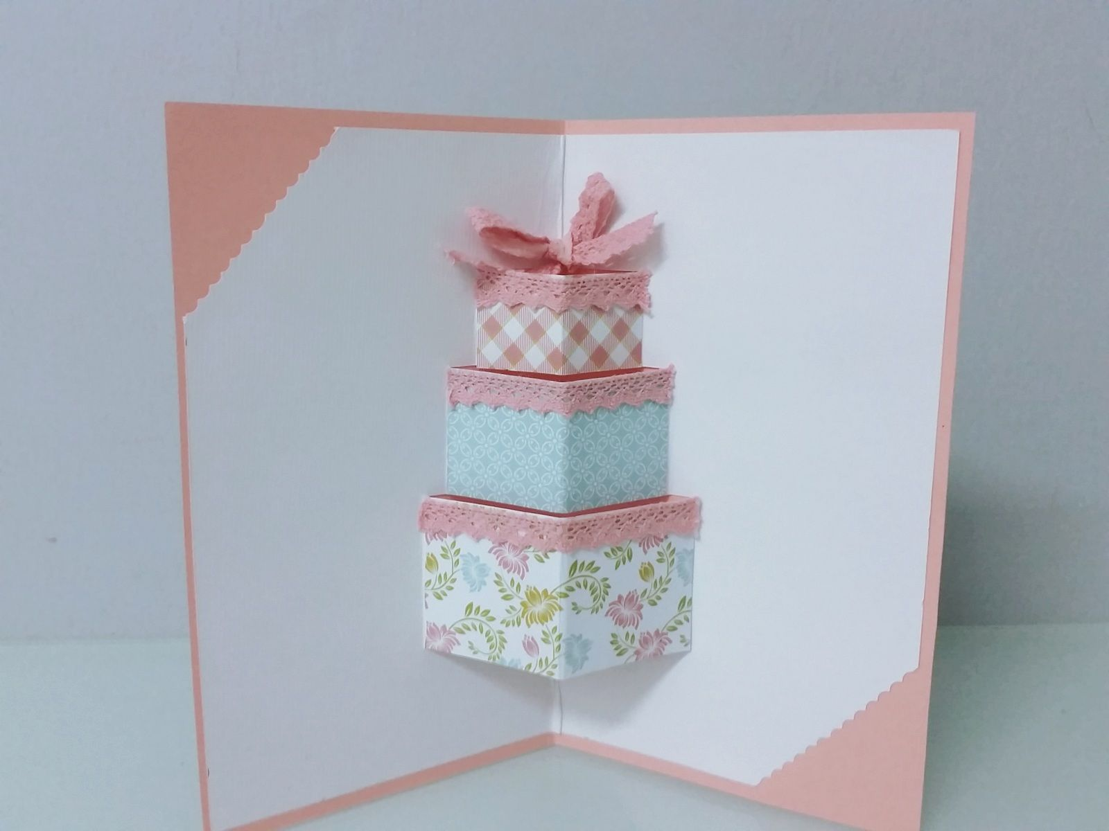 3d Gift Box Pop Up Card In Lace And Pastel Colours Girls Are Gonna Love This Boxed Birthday Cards Girl Birthday Cards Gift Box Birthday