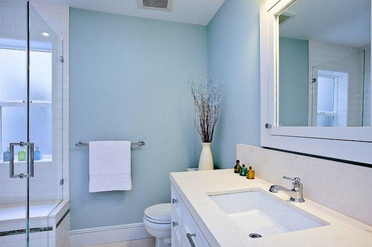 Peinture salle de bain : idées inspirantes sur les couleurs ...