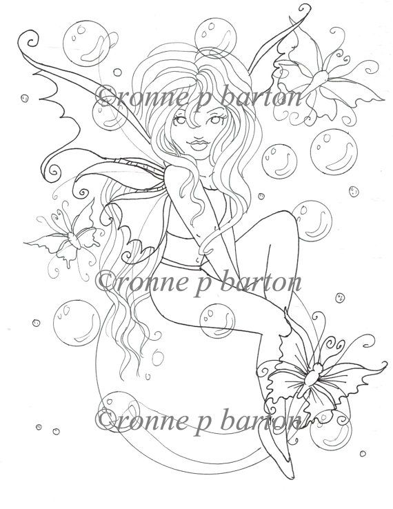 The Black Fairy Coloring Page Printable Fairy Big Eye Etsy Fairy Coloring Pages Fairy Coloring Coloring Pages