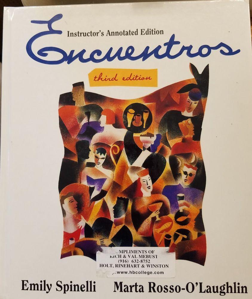 Workbooks spanish language workbooks : Encuentros, Spanish Language Textbook Instructor Edition   Textbook